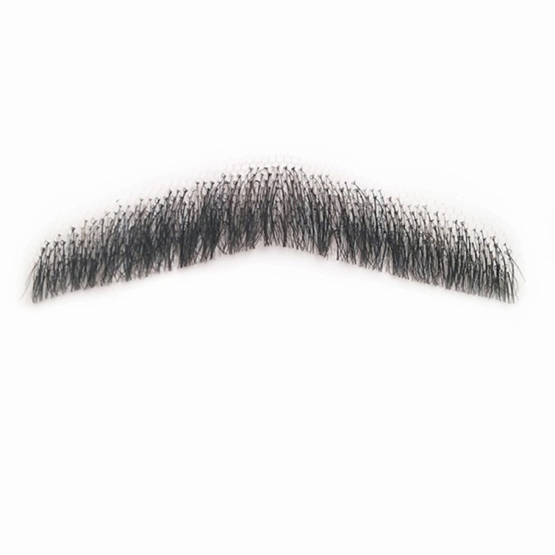 付け髭 リアル 人毛100 口ひげ ウィングスタイル 薄いバージョン 付けひげ 付けヒゲ つけひげ つけ髭 つけヒゲ ヒゲ コスプレ RM-1003-2