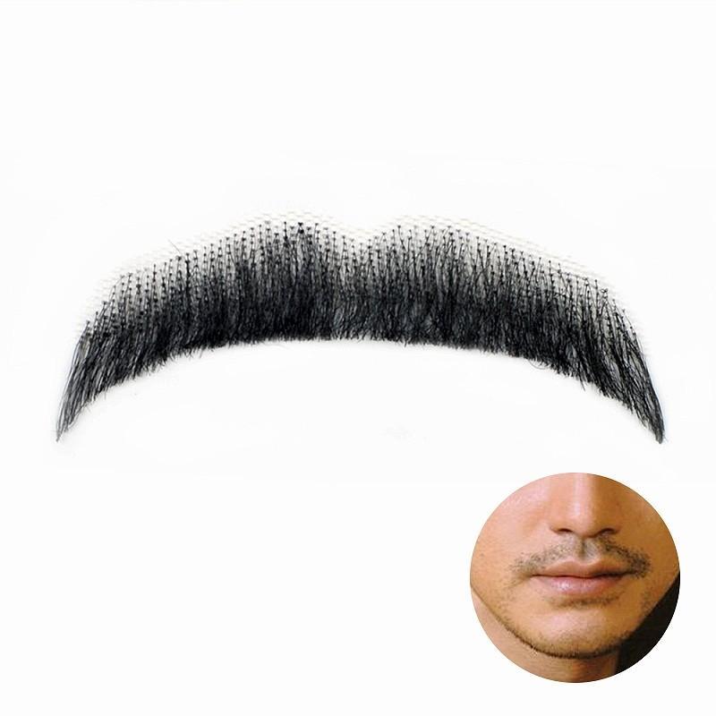 付け髭 リアル 人毛100 口ひげ パームスタイル 濃いバージョン 付けひげ 付けヒゲ つけひげ つけ髭 つけヒゲ ヒゲ コスプレ RM-1025