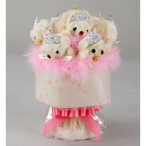 誕生日 結婚式 発表会 記念日 卒業 入学 母の日 クリスマス サプライズ プレゼント くま束 国内製作 送料無料 スイートクリーム くま8匹|presentbear|02