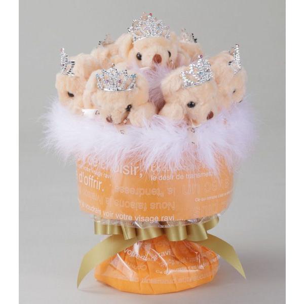誕生日 結婚式 発表会 記念日 卒業 入学 母の日 クリスマス サプライズ プレゼント くま束 国内製作 送料無料 バレンシアキッス くま8匹 |presentbear|02