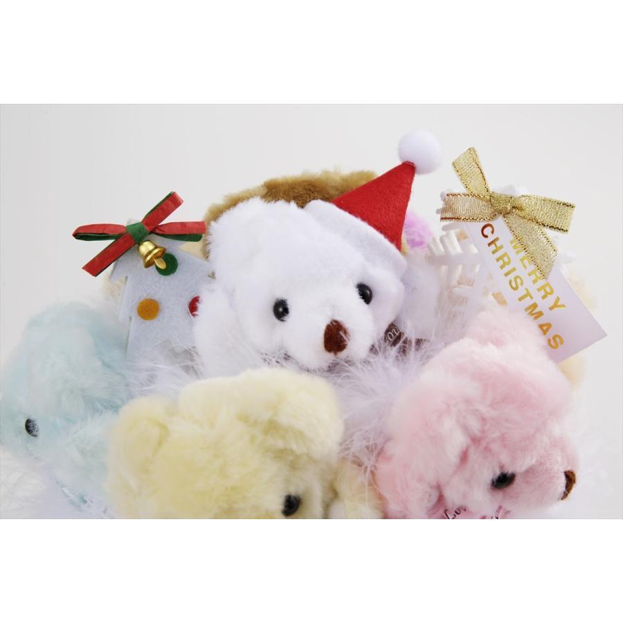 クリスマス プレセント ギフト サプライズ サンタ帽 送料無料 国内製作 クリスマス☆くま束 くま6匹|presentbear|06