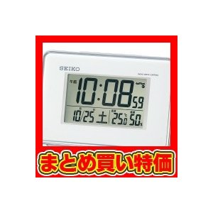 セイコー 電波デジタル目覚まし時計 ホワイト (SQ767W) ※セット販売(40点入)