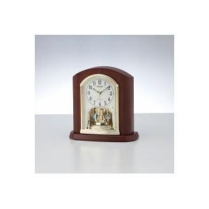 リズム 木枠電波置時計 (4RY702SR06)