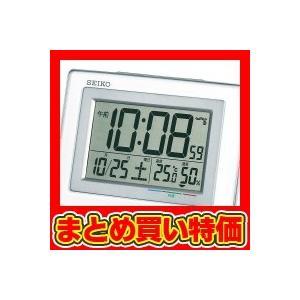 セイコー デジタル電波置時計 白 (SQ686W) ※セット販売(24点入)