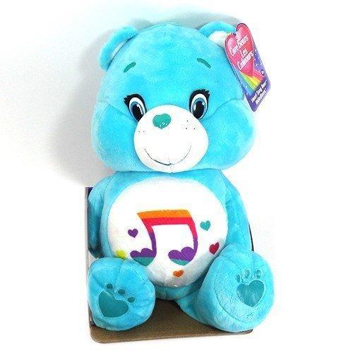 ケアベア ぬいぐるみ ミディアム (ハートソングベア) Care Bear Heart Song Bear 音符 ハート 水色 人形 おもちゃ インポート 輸入 [宅配便配送のみ] 11676h