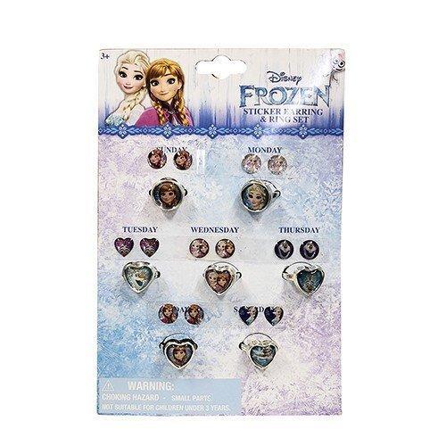 アナと雪の女王 リング&ピアスシール 7コセット 14600a アナ雪 シールイヤリング ディズニー Disney アクセサリー キッズアクセ 輸入品|pretzel