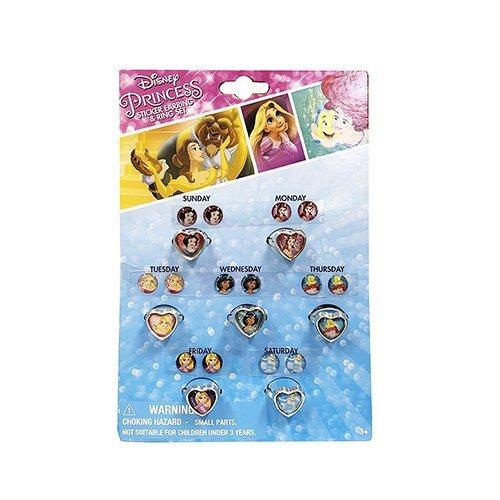 ディズニープリンセス リング&ピアスシール 7コセット 14600b プリンセス シールイヤリング Disney アクセサリー キッズアクセ 輸入品|pretzel