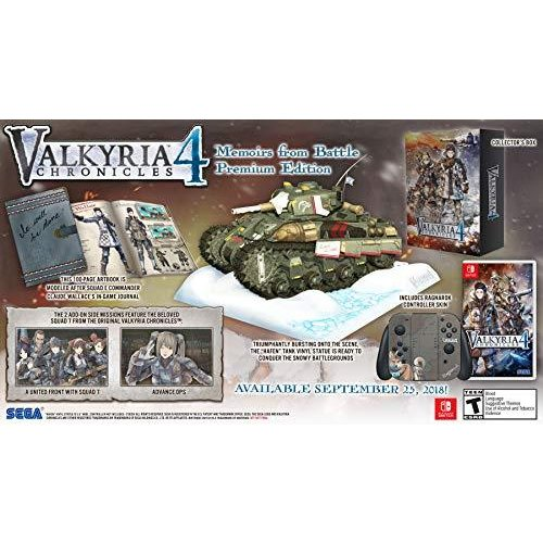 Valkyria Chronicles 4: Memoirs from Battle - Premium Edition (輸入版:北米) - Switch