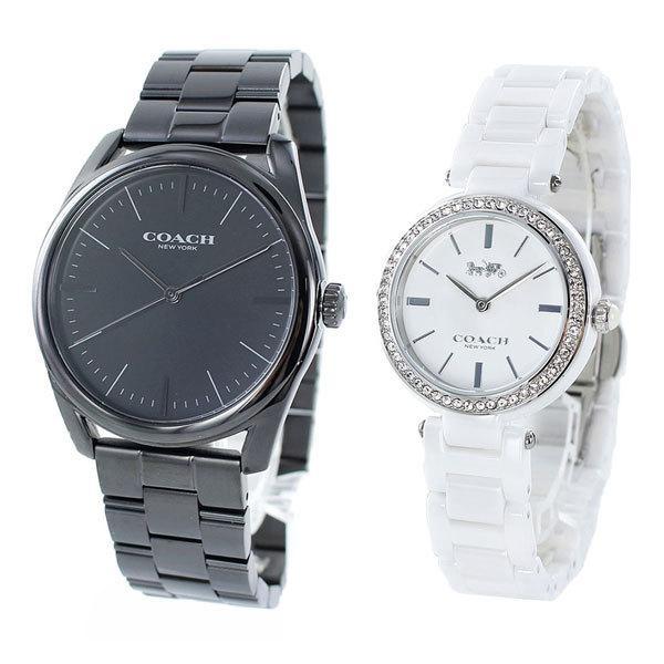 コーチ ペア ウォッチ 腕時計 メンズ レディース 特別 記念日 プレゼント ギフト セット ブラック ホワイト