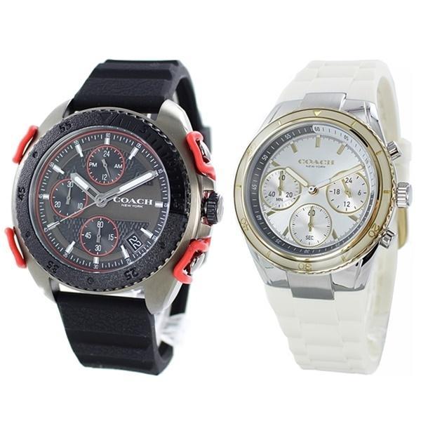 カジュアルギフト おしゃれなペア 夫婦 カップル ギフト ペアウォッチ 腕時計 ブランド コーチ ラバー