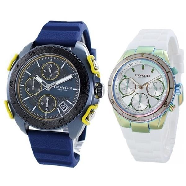 ペアウォッチ 腕時計 ブランド コーチ カジュアルギフト おしゃれなペア 夫婦 カップル ギフト ラバー
