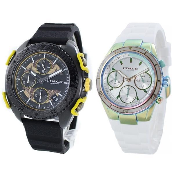 ペアウォッチ 腕時計 ブランド コーチ カジュアルギフト おしゃれなペア 夫婦 カップル ギフト ラバー 虹色