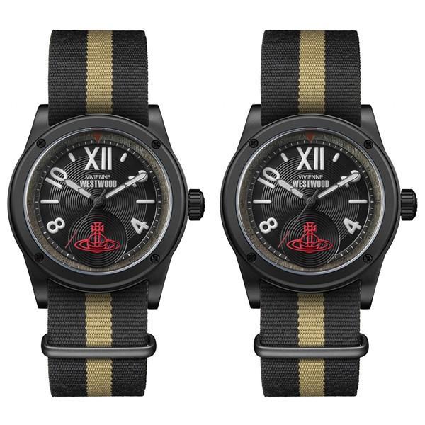 驚きの値段で 特典付き ダルストン ヴィヴィアン ウエストウッド 腕時計 特典付き ペアウォッチ 同じサイズ シェア ダルストン ベージュ ブラック ナイロン VV194BKBKVV194BKBK 腕時計, 関西オートパーツ販売:0a78e636 --- airmodconsu.dominiotemporario.com