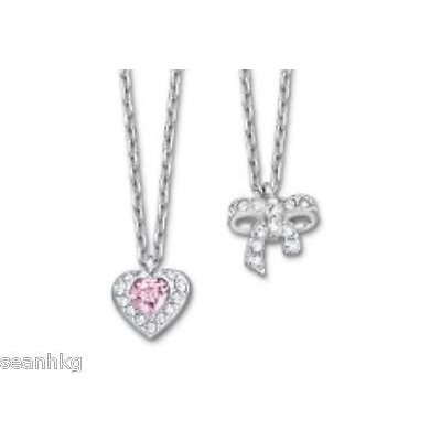 希少 黒入荷! ネックレス スワロフスキー Swarovski Treasure Heart Bow Mini Pendant, 2 Pendants Crystal MIB - 5055953, UOMO 9655ffe3