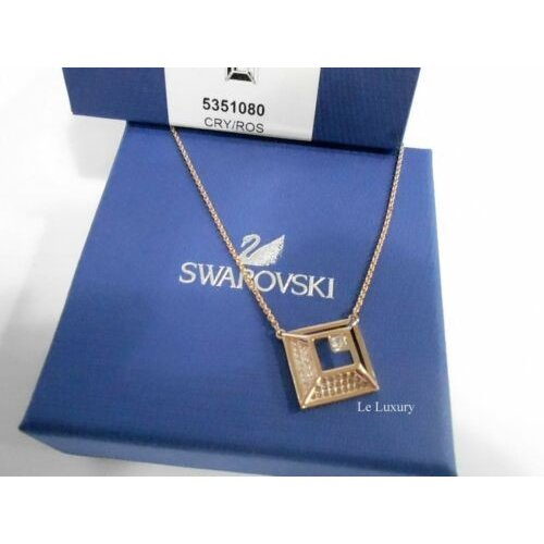 お待たせ! ネックレス スワロフスキー Swarovski Hillock Square Pendant, White, ROS Crystal Authentic MIB 5351080, 藤岡市 5f00bfa3
