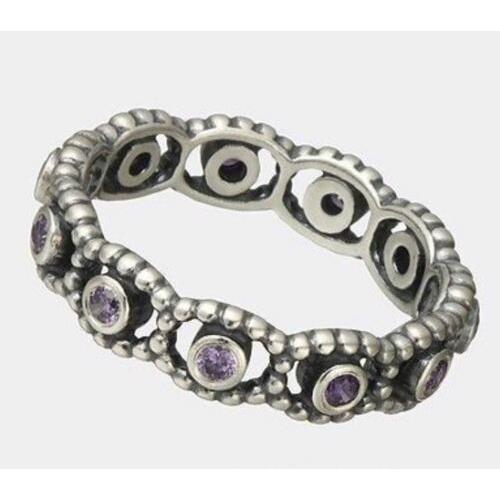 【開店記念セール!】 リング パンドラ Pandora Her Majesty, Purple CZ - 190881ACZ-52, vivre(ビーブル)ミセスのお洋服 f1c83bd5