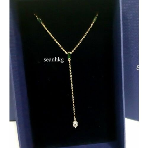 国内発送 ネックレス GOS 5455520 スワロフスキー Swarovski ネックレス Oz Y Necklace, GOS Green/Clear Crystal Authentic MIB 5455520, waitea.kobe:b598936a --- airmodconsu.dominiotemporario.com