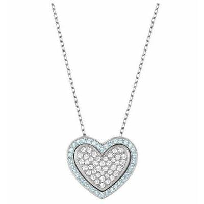 【最新入荷】 ネックレス rhodium-Plated スワロフスキー Swarovski Heart Cupid Blue Pendant, Heart rhodium-Plated Blue/Clear Blue/Clear CrystalMIB 5118810, 美健WOMAN:0bce70c6 --- airmodconsu.dominiotemporario.com