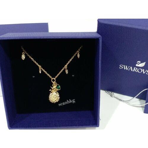 【お年玉セール特価】 ネックレス スワロフスキー Swarovski Lime Necklace Pineapple Crystal Authentic MIB 5368020, 三田川町 1c2e586f