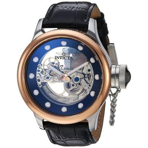 2019超人気 腕時計 メンズ インヴィクタ インビクタ Invicta Men's Russian Diver Ghost 52mm Automatic Leather Watch, ダンスウェアのベイシス 9e33236d