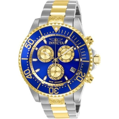 贅沢 腕時計 メンズ インヴィクタ インビクタ Invicta 26851 Pro Diver Men's 47mm Chronograph Two-Tone Steel Blue Dial Watch, Okawari 59e6089f