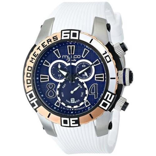 お歳暮 腕時計 メンズ マルコ Mulco MW1-74197-014 Men's Fondo Wheel Day-Date Multifunction 48mm Watch, 豊浦郡 466ddc81