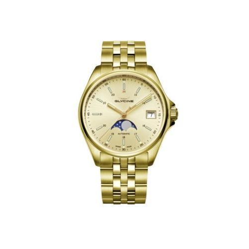 春のコレクション 腕時計 メンズ グリシン Glycine Men's 3958.292.MB Combat Classic Moonphase Automatic 36mm - GL0247, 水着ショップ アクアフェアリー 68acff4c