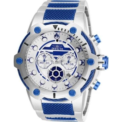 印象のデザイン 腕時計 メンズ インヴィクタ インビクタ Invicta 27114 Star Wars Men's 51.5mm Chronograph Stainless Silver Dial Watch, あっときれいあーる 257a73cb