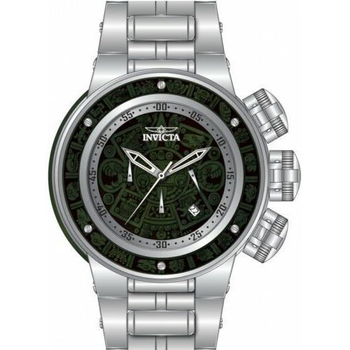 【訳あり】 腕時計 メンズ インヴィクタ インビクタ Invicta 28249 Subaqua Men's 52mm Chronograph Stainless Steel Green Wood Dial, 笛吹市 84be4d31