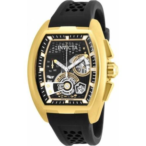魅了 腕時計 メンズ インヴィクタ インビクタ Invicta 26398 S1 Rally Diablo Men's 42mm Chronograph Gold-Tone Black Dial Watch, 大栄ペイント 2229dd89