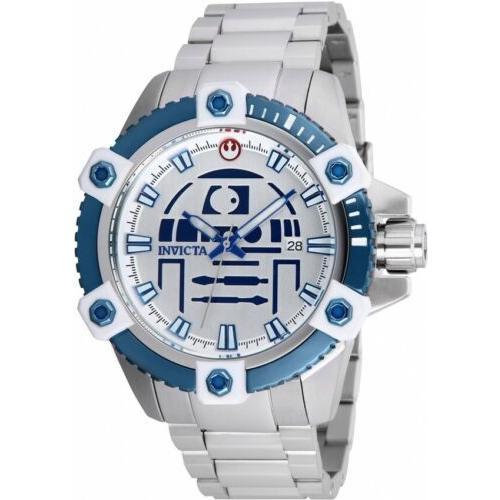 値引 腕時計 メンズ インヴィクタ インビクタ Invicta 26556 Star Wars Men's 48mm Automatic Stainless Steel Silver Dial Watch, セール特価 9289ea43