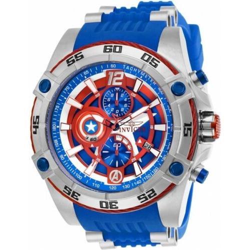 【海外限定】 腕時計 メンズ インヴィクタ インビクタ Invicta 26780 Marvel Men's 52mm Chronograph Stainless Steel Blue Dial Watch, アジアの布雑貨 ウィージャ 9618209f
