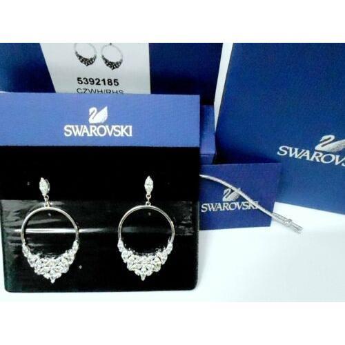 【当店限定販売】 イヤリング スワロフスキー Swarovski Lady Pierced Earrings MIB Hoop 5392185 Frontal, Pierced RHS Crystal Authentic MIB 5392185, オートパーツエージェンシー2号店:c5a6be4d --- levelprosales.com