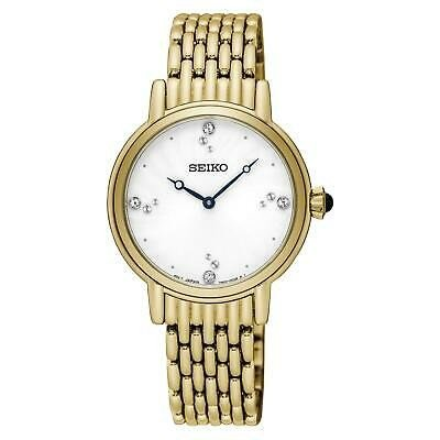 人気を誇る 腕時計 セイコー レディース SEIKO WOMEN'S CONCEPTUAL 29MM GOLD PLATED BRACELET & CASE QUARTZ WATCH SFQ804, GOGOshop 2a4c3320