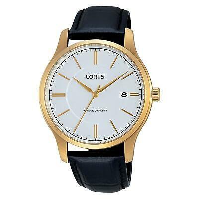 輝い 腕時計 ローラス メンズ LORUS MEN'S 40MM BLACK LEATHER BAND STEEL CASE QUARTZ ANALOG WATCH RS966BX9, ハンコックツール 50b71b32