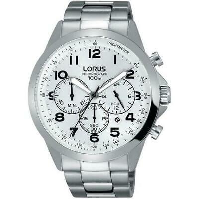 100%安い 腕時計 ローラス メンズ LORUS MEN'S 43MM STEEL BRACELET & CASE QUARTZ SILVER-TONE DIAL WATCH RT369FX9, 木こり屋 e8ac97ad