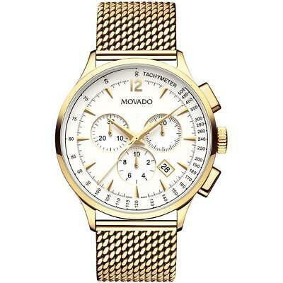 人気大割引 腕時計 モバード メンズ Movado Men's Circa 42mm Gold Plated Bracelet & Case Swiss Quartz Watch 0607080, 世界のお土産通販【ギフトランド】 aa388bc2