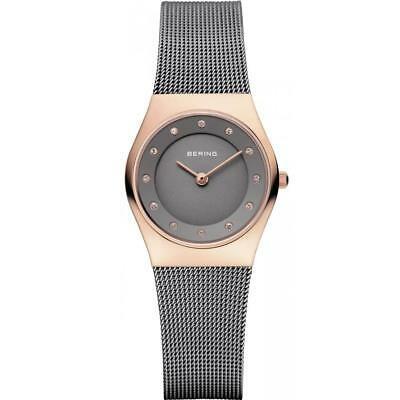 【激安セール】 腕時計 ベーリング レディース Bering Women's 27mm Steel Bracelet Quartz Grey Dial Analog Watch 11927-369, MDD d02c59e1