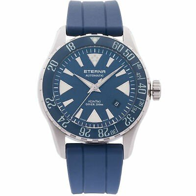 割引発見 腕時計 エテルナ メンズ Eterna Band Men's KonTiki Diver 44mm Eterna Silicone KonTiki Band Automatic Watch 1290-41-89-1418, ゴールドエコ:e50495a7 --- airmodconsu.dominiotemporario.com