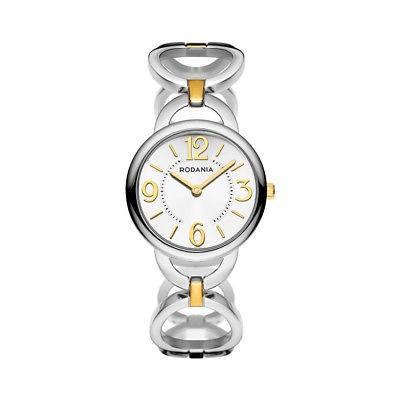 華麗 腕時計 ロダニア レディース RODANIA EILEEN Women's 30mm Silver Steel Bracelet & Case Quartz Watch 26047-80, rayon abfe997a