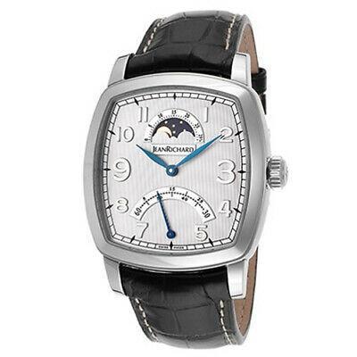 (お得な特別割引価格) 腕時計 ジーンリチャード メンズ Jean Richard TV Screen Men's 39mm Black Leather Date Watch 46016-11-10E-AA6D, サンナイムラ 2fb94713