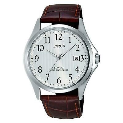 訳あり 腕時計 ローラス メンズ LORUS MEN'S 41MM BROWN LEATHER BAND STEEL CASE QUARTZ ANALOG WATCH RS901CX9, ウゴマチ b99222b9