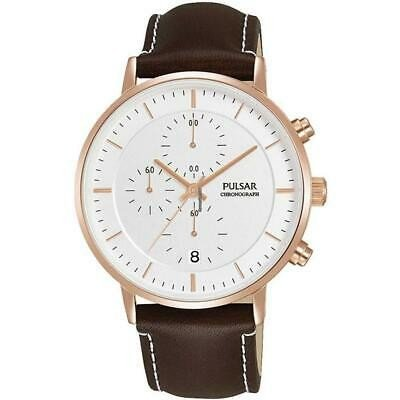 即納!最大半額! 腕時計 パルサー メンズ PULSAR MEN'S 42MM BROWN LEATHER BAND STEEL CASE QUARTZ WHITE DIAL WATCH PM3082, スリーアール 6ff8d354