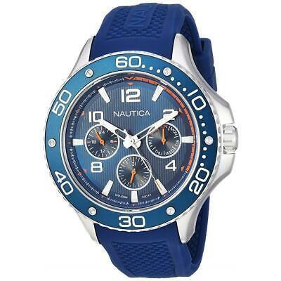 高品質の激安 腕時計 ノーティカ メンズ Nautica Men's 42mm Blue Silicone Band Steel Case Quartz Analog Watch NAPP25002, Club Take d8706930