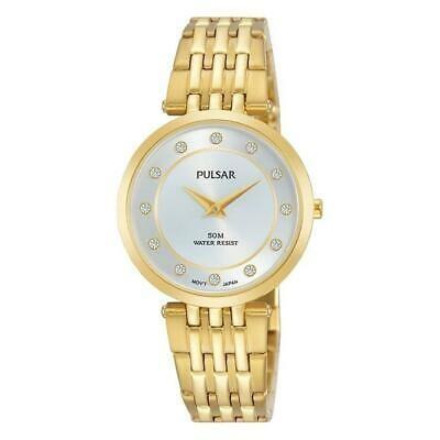 値引 腕時計 パルサー レディース Pulsar Women's 29mm Gold-Tone Steel Bracelet & Case Quartz Watch PM2258X1, カーキュート 44302cfb