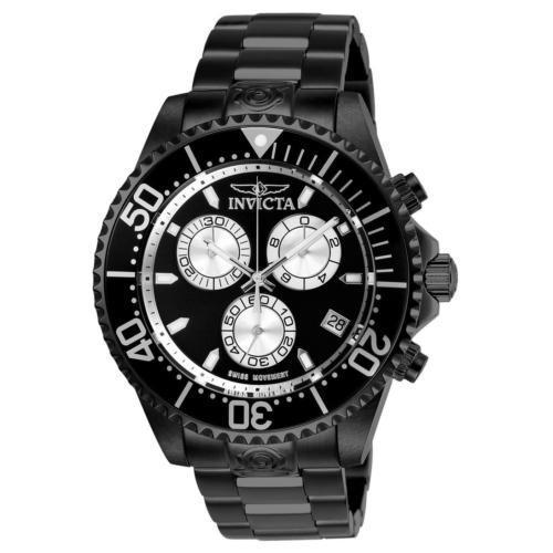 最安 腕時計 インヴィクタ インビクタ メンズ Invicta 26852 Pro Diver Men's 47mm Chronograph Black-Tone Steel Black Dial, フタミチョウ 5103c488