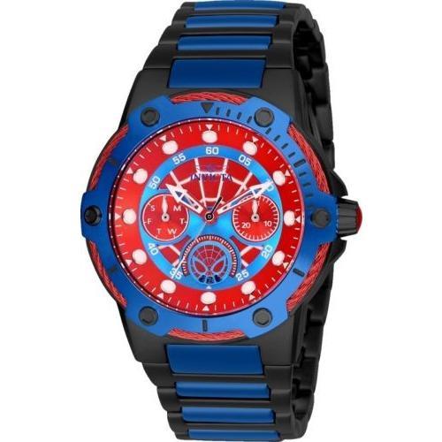 【オンライン限定商品】 腕時計 インヴィクタ インビクタ レディース Invicta 26981 Marvel Women's Day-Date 24H 39mm Black/Blue/Red Spiderman Watch, アスカムラ 8c203817