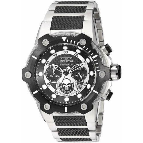 人気ブランド 腕時計 インヴィクタ インビクタ メンズ Invicta 25983 Marvel Men's 51.5mm Chronograph Stainless Steel Black Dial Watch, ツヅキク ed39a64c