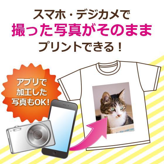 オリジナル Tシャツ 作成 写真 自作 好きな画像 プリント アプリ加工済OK 1枚から ホワイト 綿100% 5.6oz|print-laboratory|02