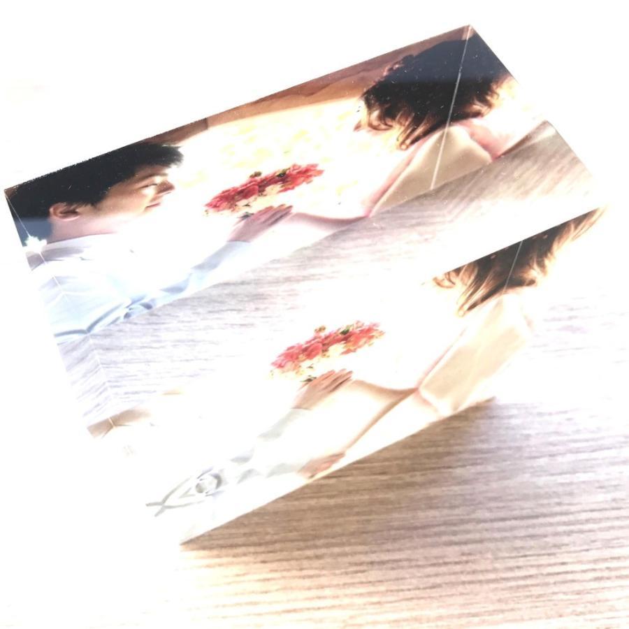 アクリルフォトプリント 10x10x5cm   写真立て 結婚式 カップル プレゼント 写真 プリント ギフト 名入れ アクリル キューブ フォト printplus 07